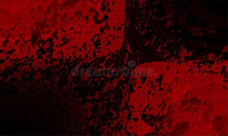 Progettazione astratta rossa e nera di vettore del fondo, fondo protetto vago variopinto Natale, bokeh illustrazione di stock