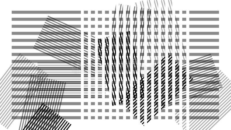 Progettazione astratta scandinava, bande su fondo bianco, geome royalty illustrazione gratis
