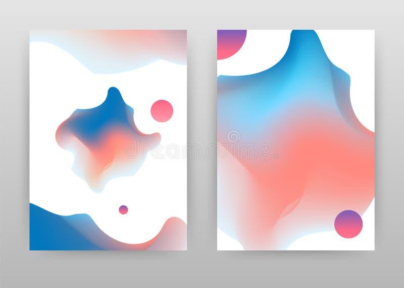 Progettazione astratta variopinta di rosa blu per il rapporto annuale, opuscolo, aletta di filatoio, manifesto Illustrazione vari illustrazione di stock