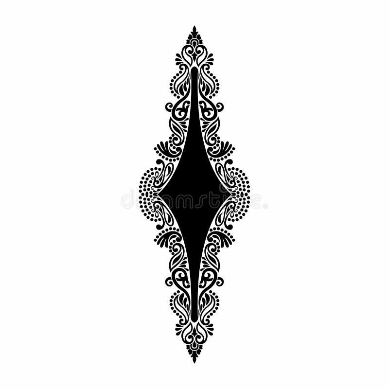 Progettazione barrocco del tatuaggio di Mehndi del damasco royalty illustrazione gratis