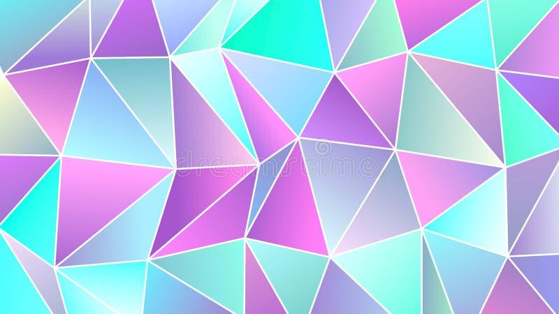 Progettazione bassa dell'insegna di colori freddi pastelli poli illustrazione vettoriale