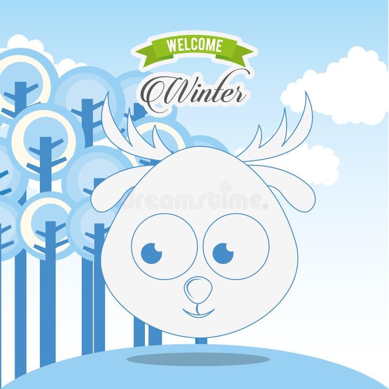 Progettazione benvenuta di inverno royalty illustrazione gratis