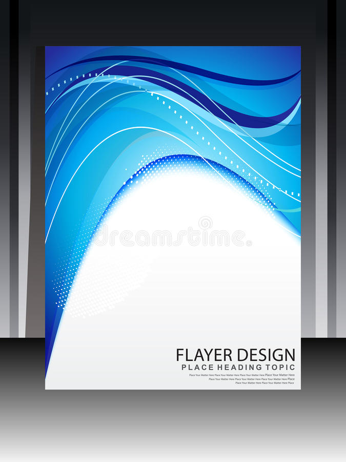 Progettazione Blu Astratta Di Flayer Fotografie Stock