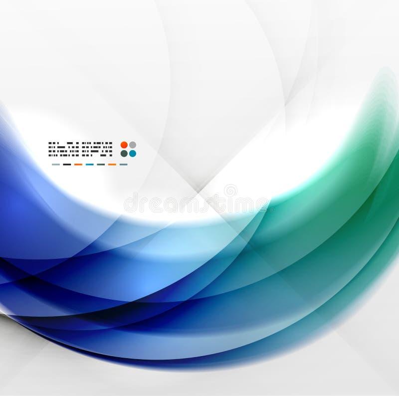 Progettazione blu astratta di turbinio illustrazione vettoriale