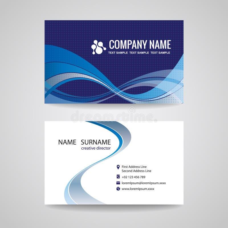 Progettazione blu di Wave dell'estratto del modello del biglietto da visita royalty illustrazione gratis
