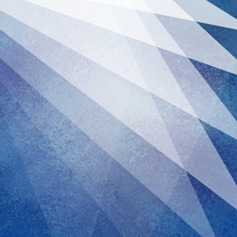 Progettazione blu e bianca astratta del fondo con gli strati materiali trasparenti leggeri con struttura debole nel modello geome fotografie stock