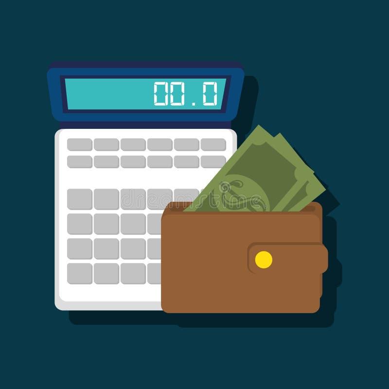 Progettazione calcolatrice di costi royalty illustrazione gratis