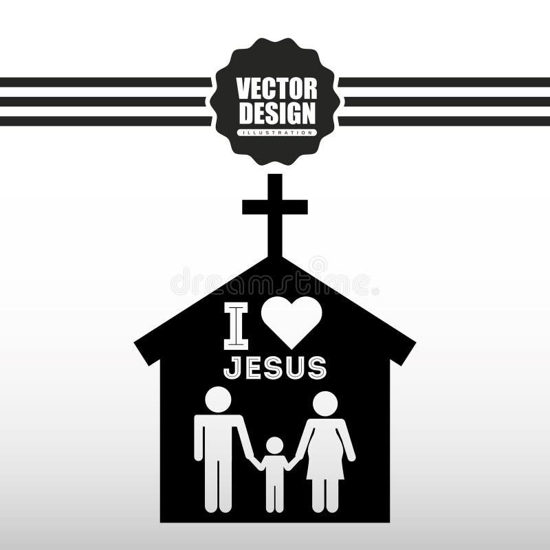 progettazione cattolica dell'icona illustrazione di stock