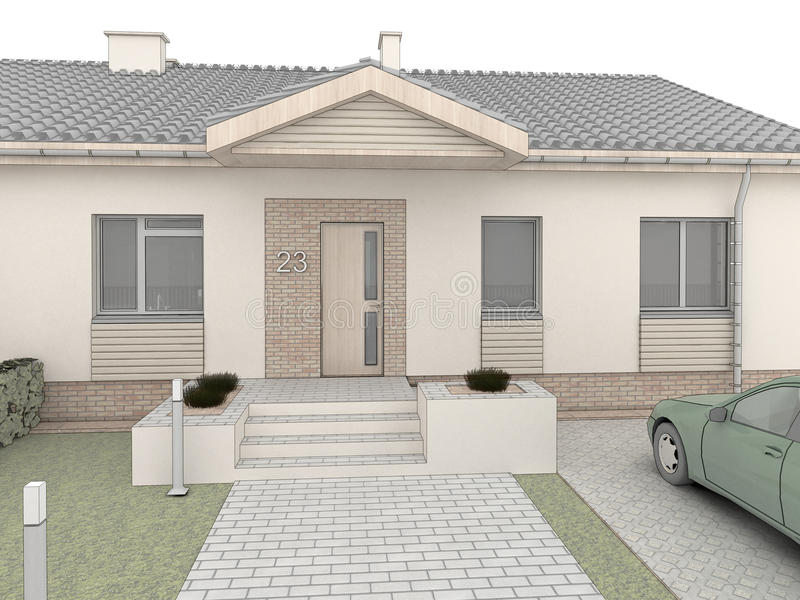 Progettazione classica della casa facciata frontale for Design della casa libera