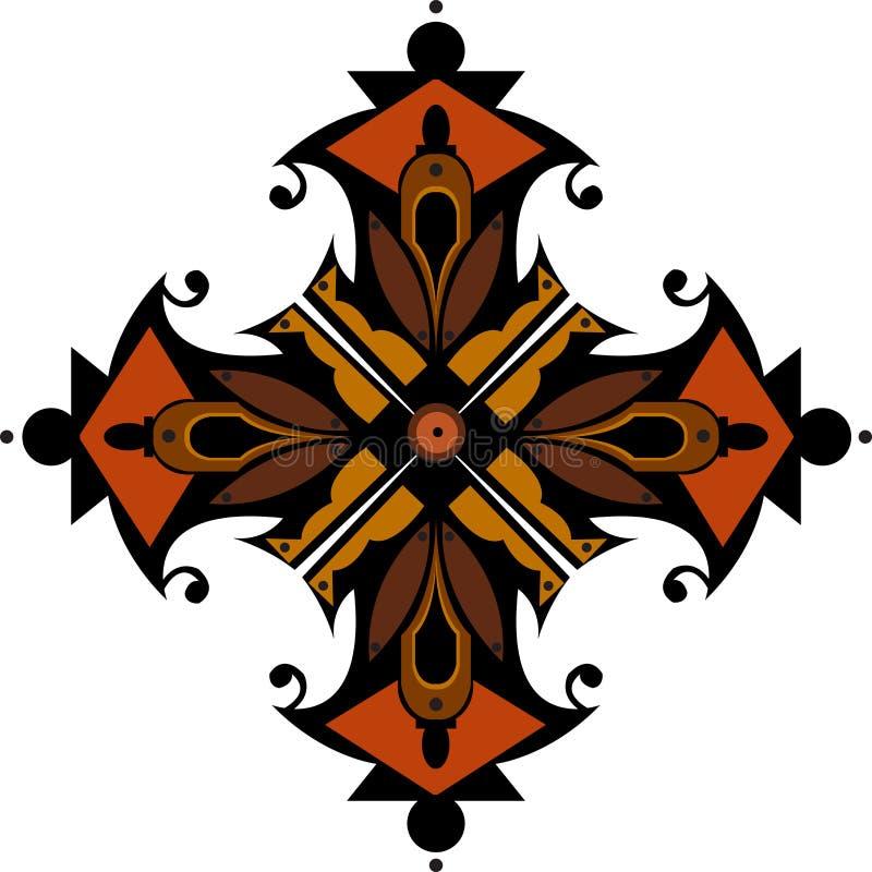 Progettazione colorata astratta per la carta da parati, il fondo, la decorazione e le mattonelle progettazione etnica ed oriental royalty illustrazione gratis