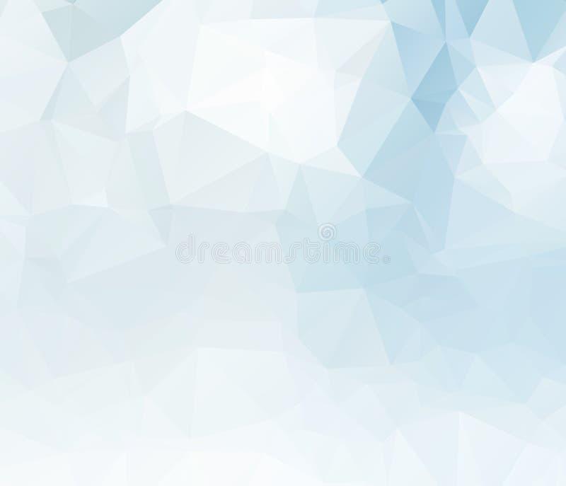 Progettazione confusa del fondo del triangolo di vettore blu-chiaro Fondo geometrico nello stile di origami con la pendenza illustrazione vettoriale