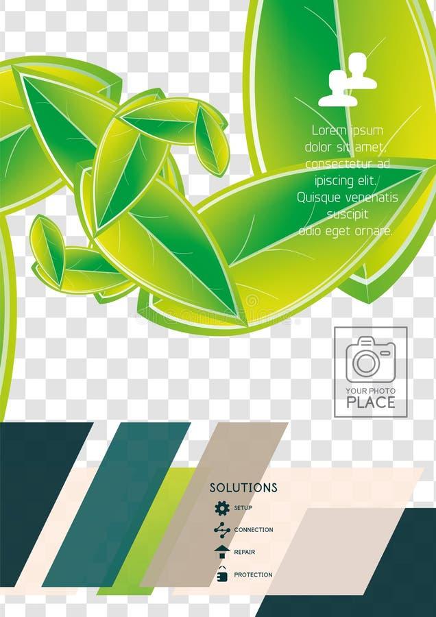 Progettazione corporativa astratta della stampa dell'aletta di filatoio di Wave illustrazione di stock
