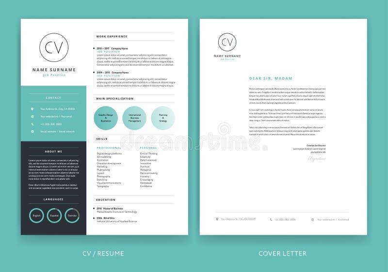 Progettazione creativa del modello della carta intestata - vettore giallo della lettera di presentazione royalty illustrazione gratis