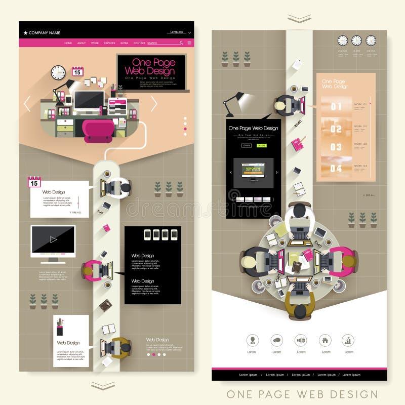 Progettazione creativa del sito Web della pagina del posto di lavoro uno royalty illustrazione gratis