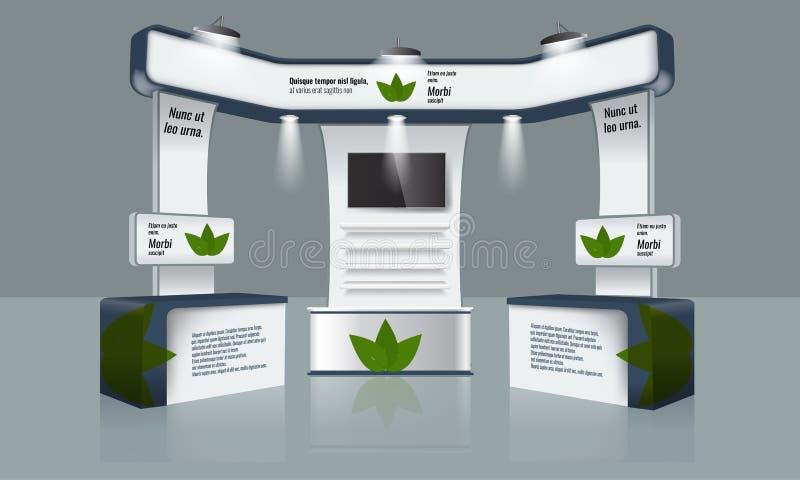 Progettazione creativa del supporto di mostra Modello commerciale della cabina Vettore di identità corporativa illustrazione di stock