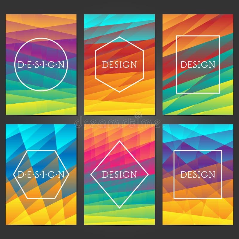 Progettazione creativa delle coperture Ambiti di provenienza moderni astratti Pendenze variopinte Disposizione per le insegne, ma illustrazione di stock