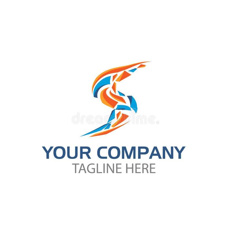 Progettazione creativa di logo della lettera s Il logos variopinto ha un'impressione allegra, felice e attiva illustrazione vettoriale