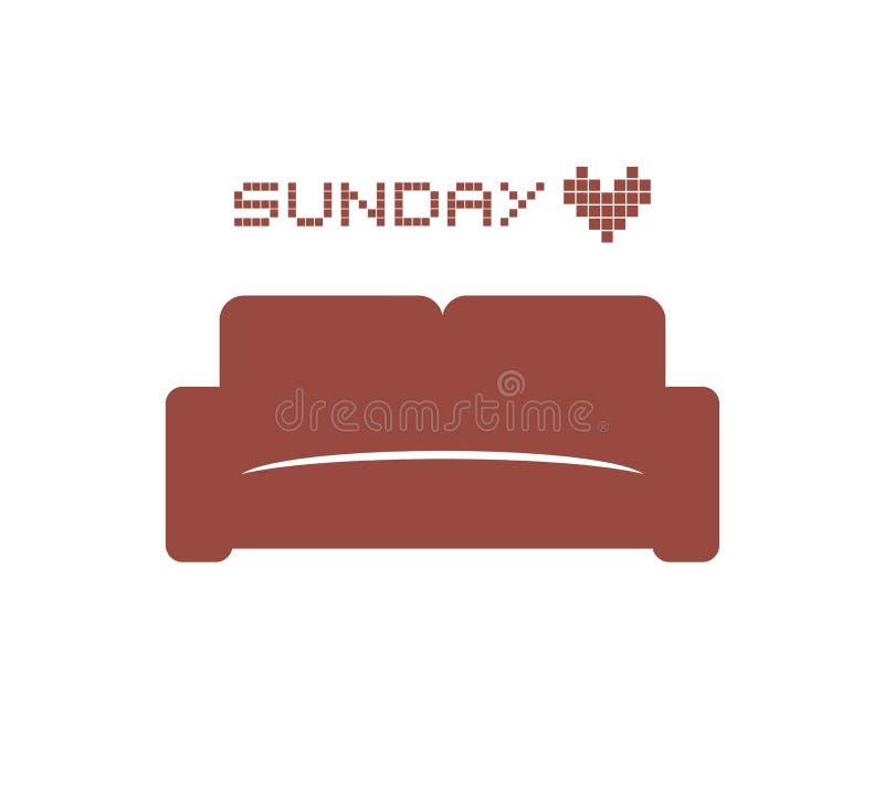 Progettazione creativa di tiraggio del sofà illustrazione vettoriale