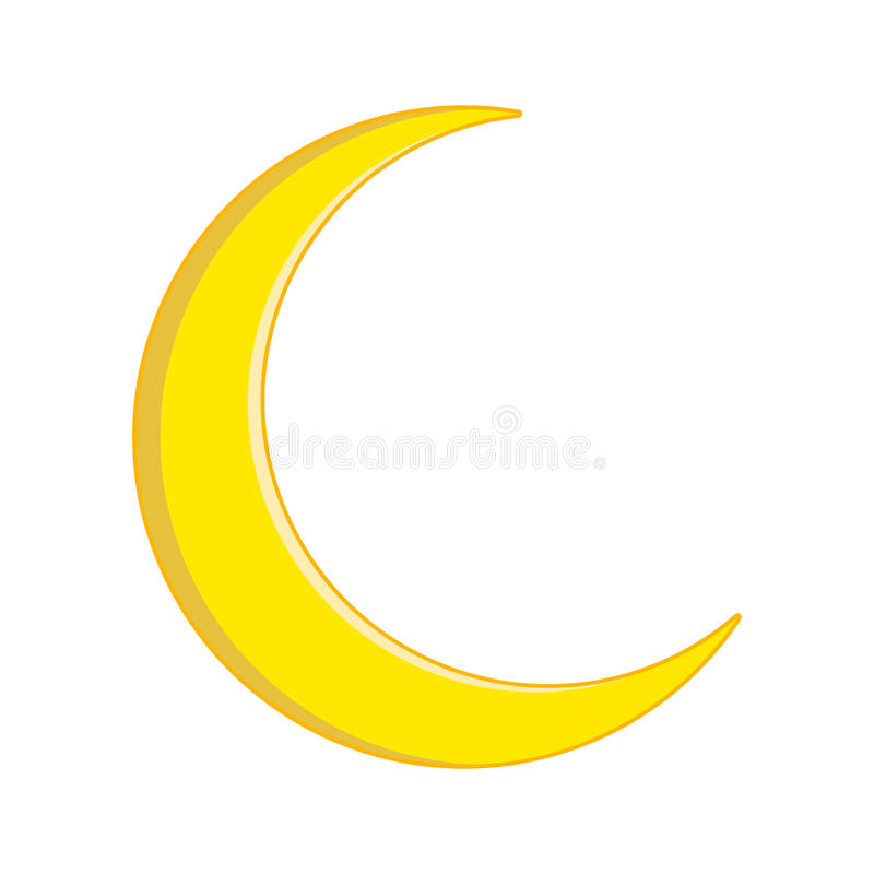 Progettazione crescente dell'icona di simbolo di vettore della luna illustrazione di stock