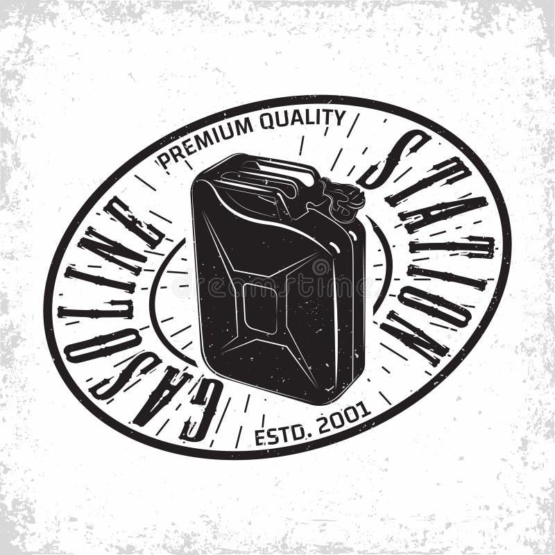 progettazione d'annata dell'emblema della stazione di servizio immagine stock