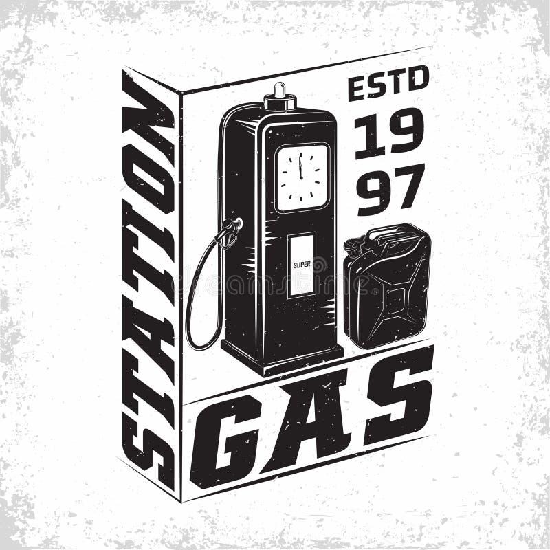 progettazione d'annata dell'emblema della stazione di servizio fotografia stock