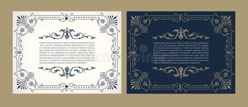Progettazione d'annata dell'etichetta con un esempio del vostro testo illustrazione vettoriale