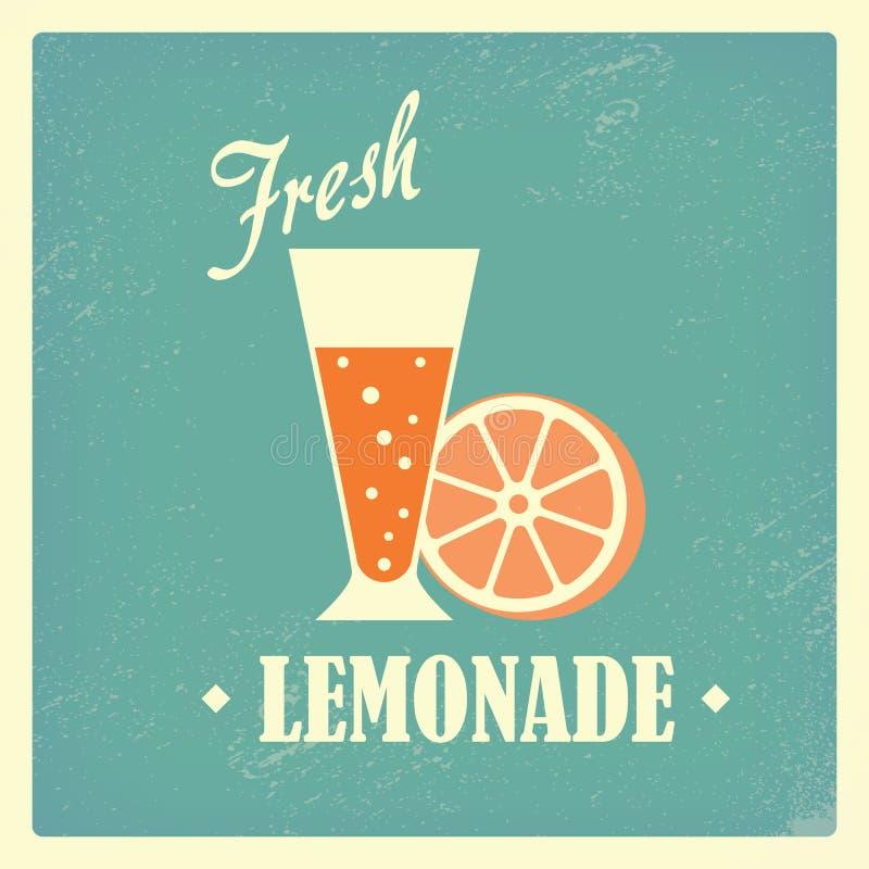Progettazione d'annata della bevanda casalinga locale fresca della limonata royalty illustrazione gratis