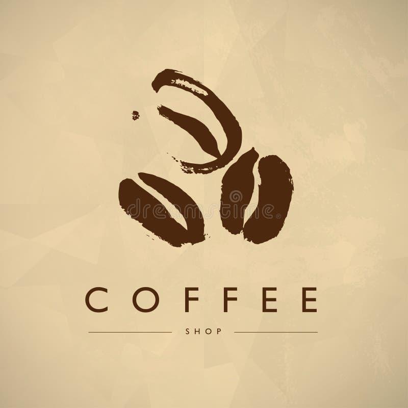 Progettazione d'annata di logo dell'emblema della caffetteria di vettore isolata royalty illustrazione gratis