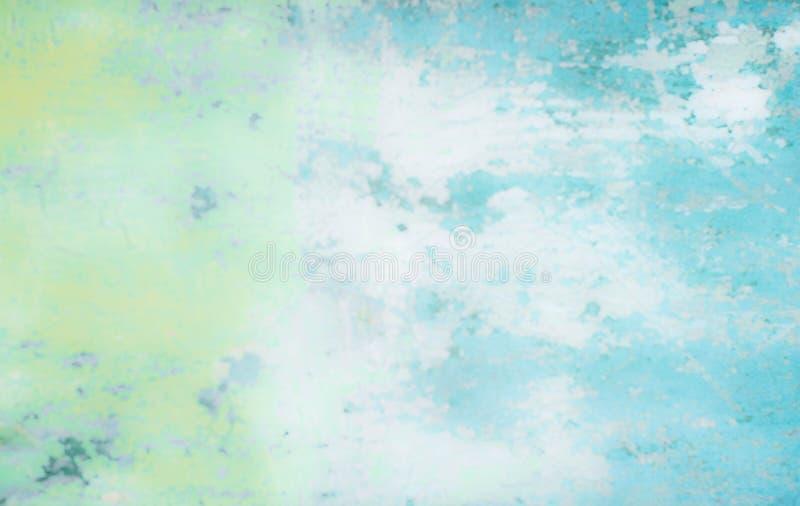 Progettazione d'annata ricca di lusso di struttura del fondo di lerciume del fondo blu astratto con pittura antica elegante sull' illustrazione vettoriale