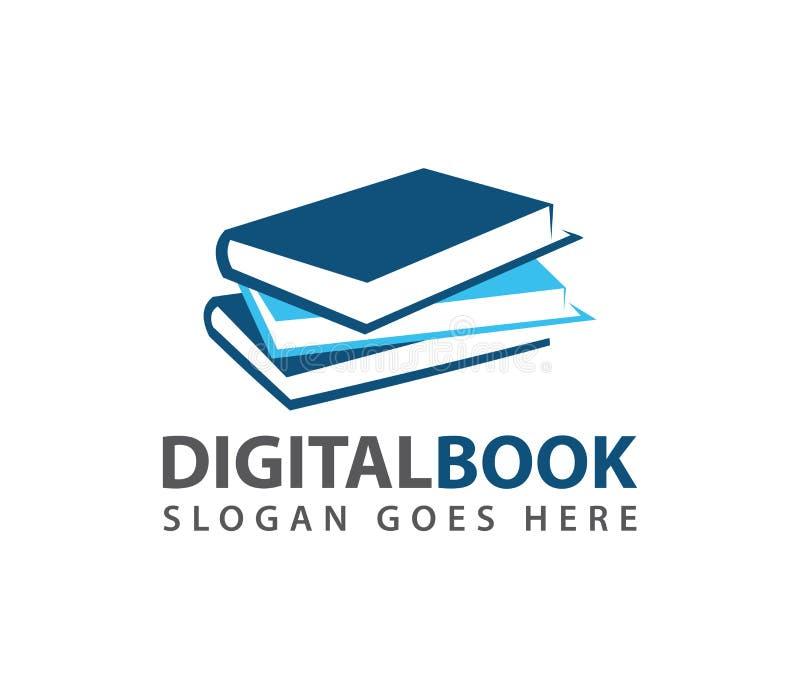 Progettazione d'apprendimento astuta di logo di vettore del deposito del negozio di libro di istruzione illustrazione vettoriale