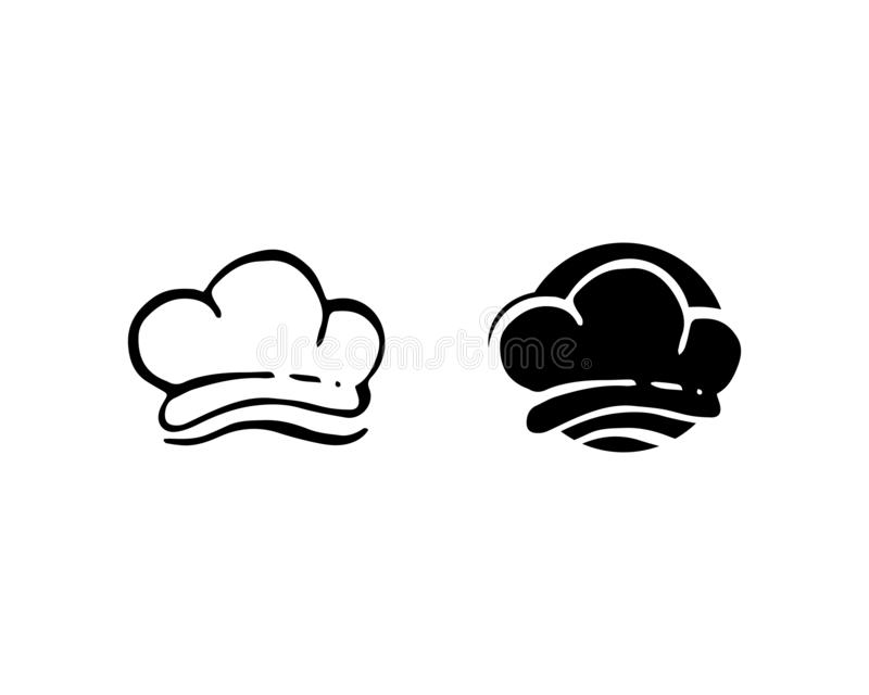 progettazione d'approvvigionamento di vettore del cuoco classico di logo del cuoco unico illustrazione di stock