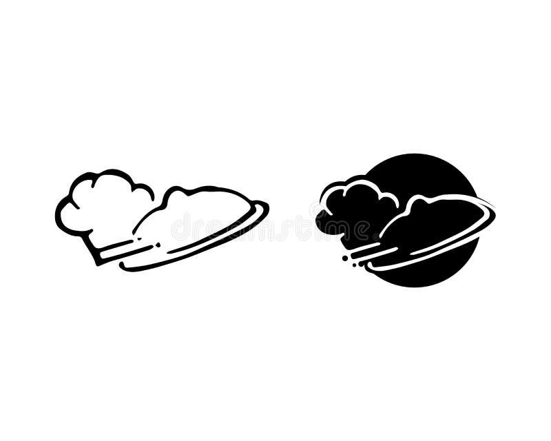 progettazione d'approvvigionamento di vettore del cuoco classico di logo del cuoco unico illustrazione vettoriale