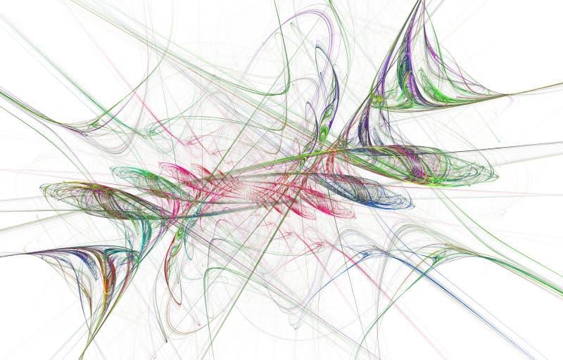 Progettazione d'ardore moderna di forma Piste leggere energetiche ed effetti illustrazione vettoriale