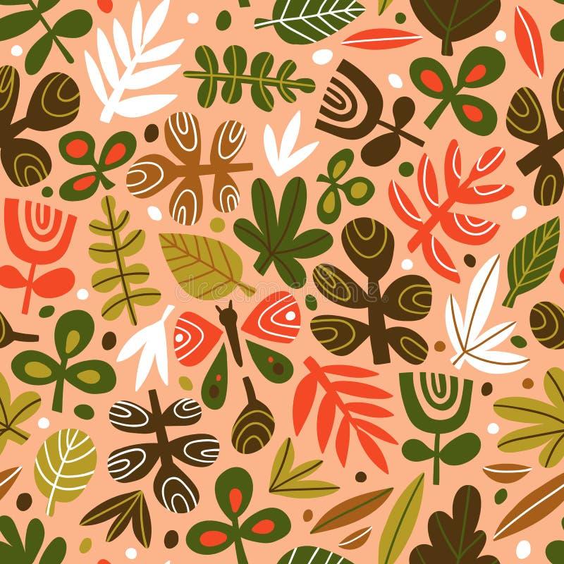 Progettazione d'avanguardia sveglia per tessuto, carta da parati, carta dell'involucro Fondo ripetuto stile scandinavo Illustrazi illustrazione vettoriale