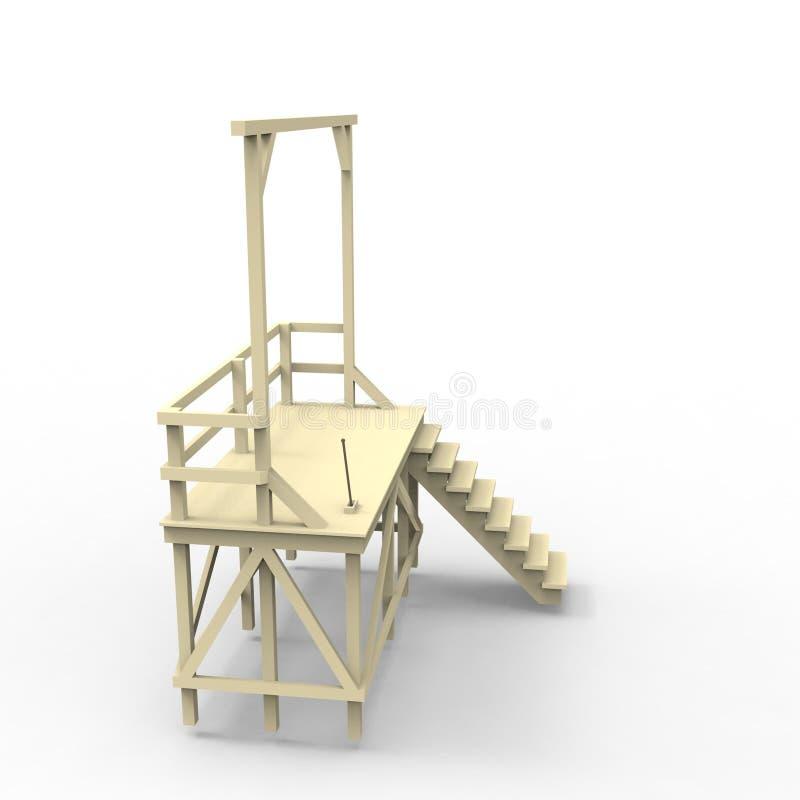 progettazione 3D di spazio domestico che rende i risultati dall'applicazione del miscelatore illustrazione vettoriale