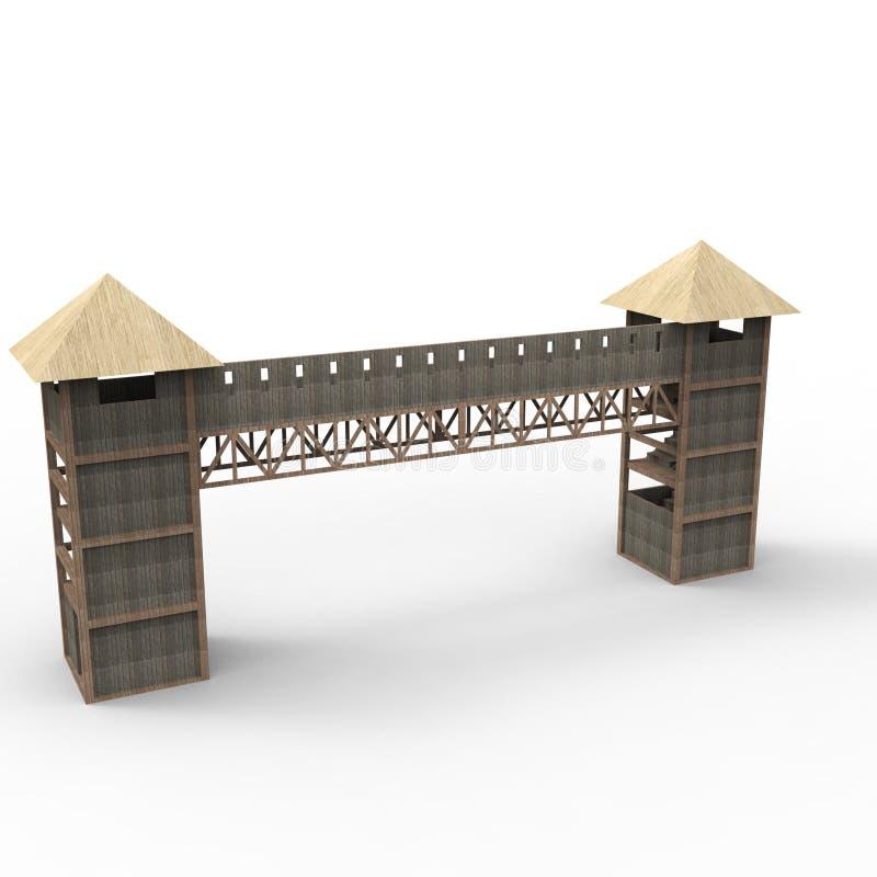 progettazione 3D di spazio domestico che rende i risultati dall'applicazione del miscelatore illustrazione di stock