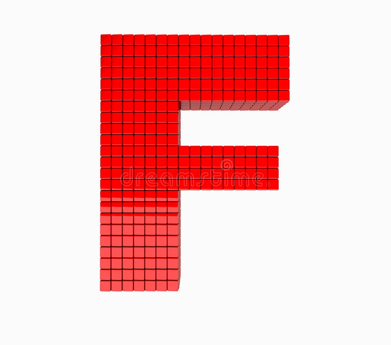 progettazione 3D l'alfabeto inglese memorabile immagini stock