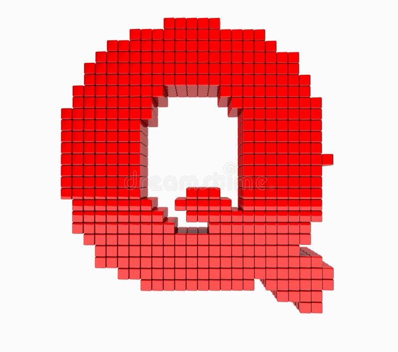 progettazione 3D l'alfabeto inglese memorabile immagine stock libera da diritti