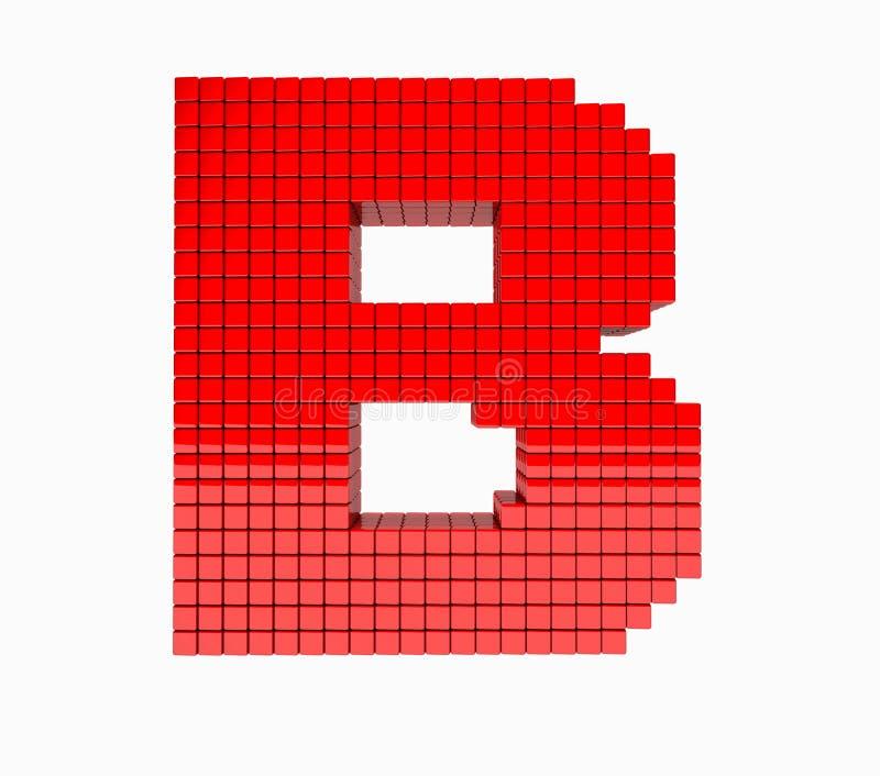 progettazione 3D l'alfabeto inglese memorabile fotografia stock