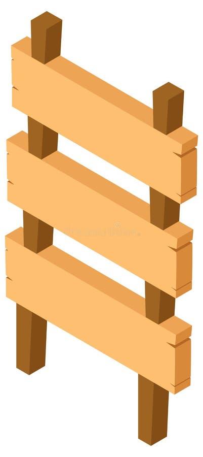 progettazione 3D per il segno di legno illustrazione di stock
