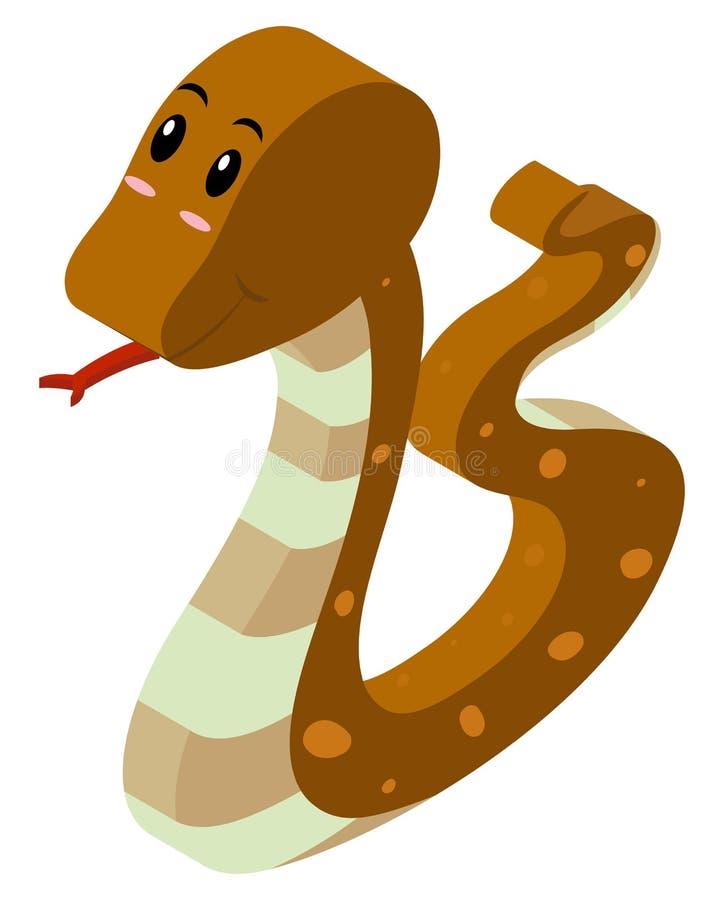 Progettazione 3d per il serpente marrone illustrazione for Progettazione 3d gratis
