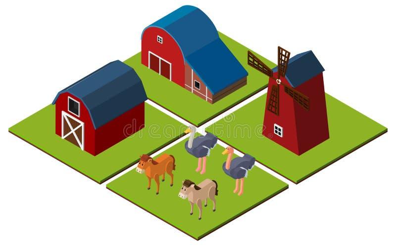Progettazione 3d per la scena dell 39 azienda agricola con i for Progettazione 3d gratis
