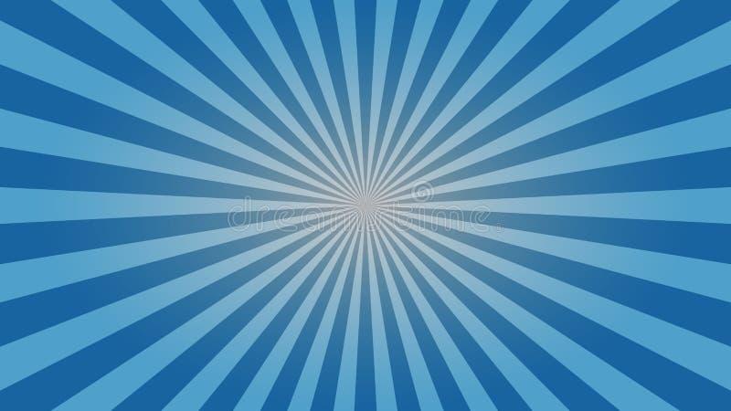 Progettazione da tavolino della carta da parati dello sprazzo di sole blu-chiaro illustrazione di stock