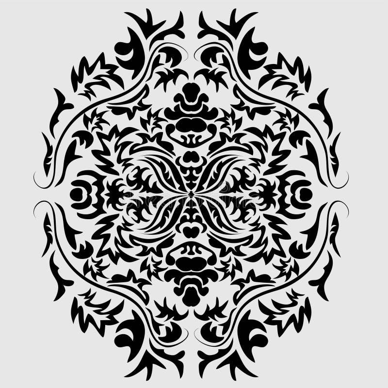 Progettazione decorativa della struttura del rotolo dell'ornamento dell'incisione del confine di retro del modello dell'oggetto d illustrazione di stock