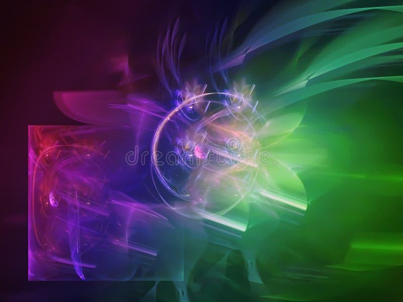 Progettazione decorativa unica creativa complessa surreale futuristica di struttura di stile di colore di fantasia digitale digit royalty illustrazione gratis