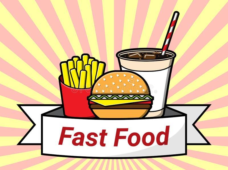 Progettazione degli alimenti a rapida preparazione Illustrazione di vettore royalty illustrazione gratis