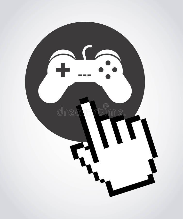 Progettazione dei giochi illustrazione di stock