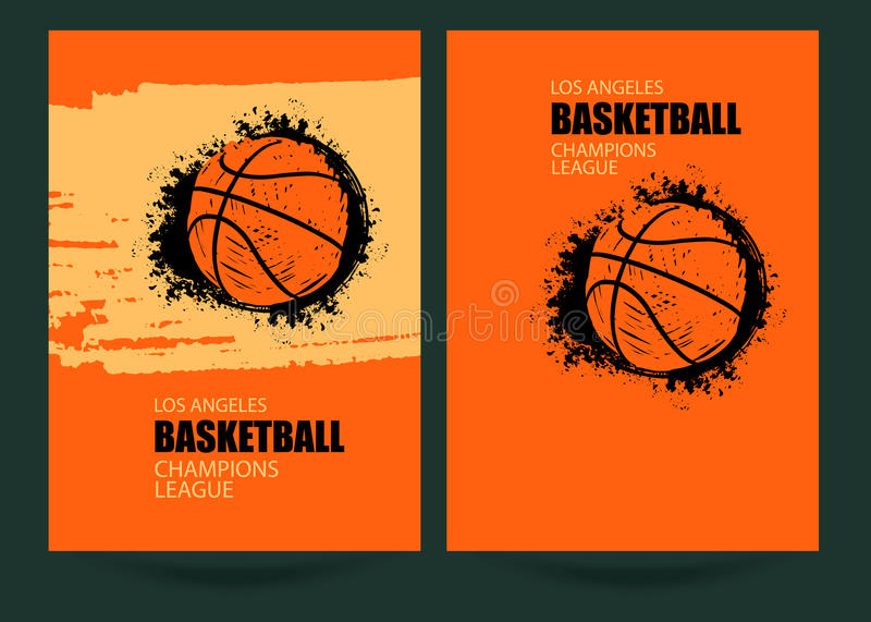 Progettazione dei manifesti di lerciume di pallacanestro illustrazione vettoriale