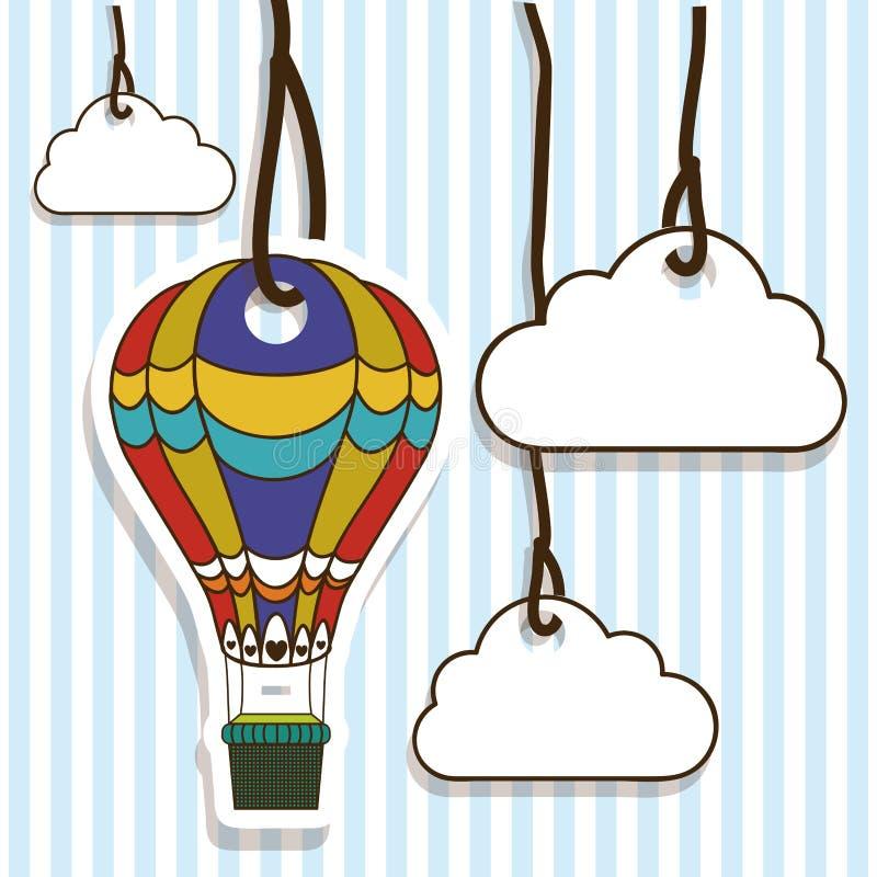 Progettazione dei palloni illustrazione di stock