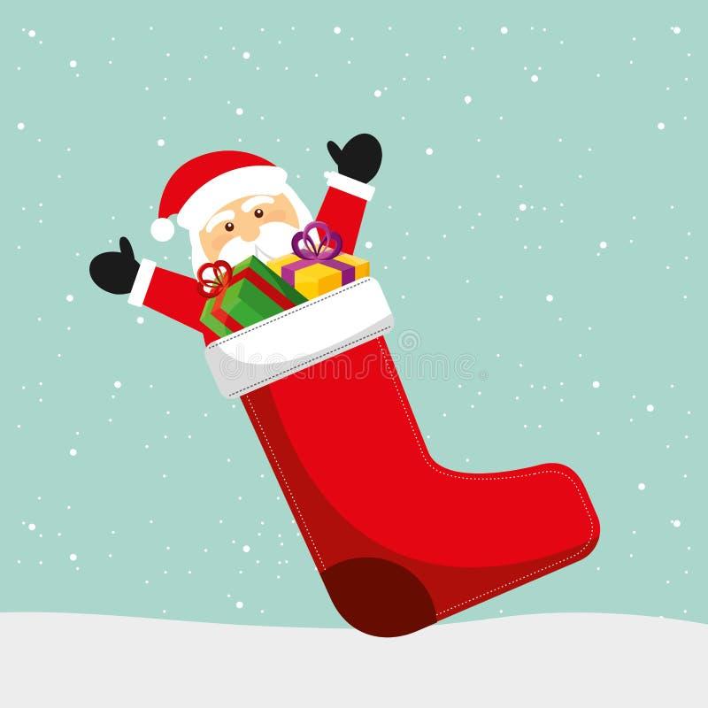 Progettazione dei regali di Natale illustrazione vettoriale